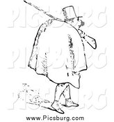 Clip Art of a Black and White Man Carrying a Rifle by Picsburg