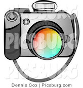 July 11th, 2012: Clip Art of a Digital SLR Camera with Flash on a White Background by Djart
