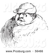 Clip Art of a Man in Black and White by Picsburg