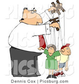 Clip Art of a Puppeteer Businessman Easily Controlling the People in His Life - Concept Clipart by Djart