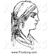 January 17th, 2014: Clip Art of a Woman in Black and White by Picsburg