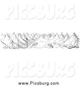 Clip Art of Boats on the Rhine in Black and White by Picsburg
