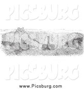 Clip Art of Fog on the Rhine, in Black and White by Picsburg