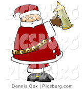 Clip Art of Santa Claus Holding a Beer Stein up by Djart