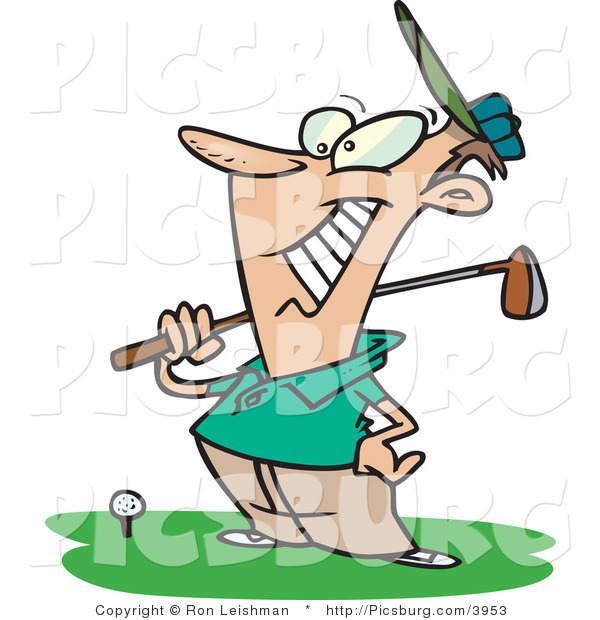 Happy Golfer Clipart