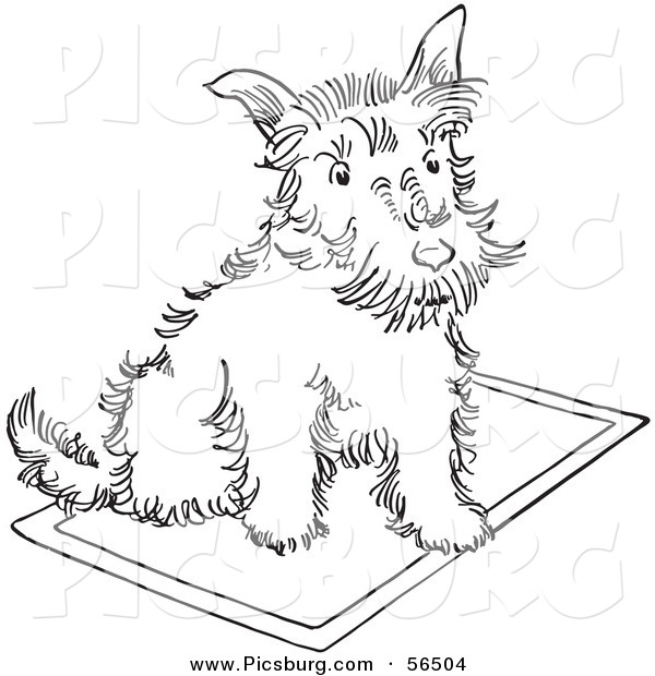 Clip Art Of A Scottie Dog Sitting On